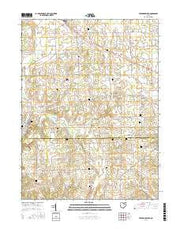 Fredericksburg Ohio Current topographic map, 1:24000 scale, 7.5 X 7.5 Minute, Year 2016 from Ohio Maps Store