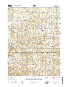 Fredericksburg Ohio Current topographic map, 1:24000 scale, 7.5 X 7.5 Minute, Year 2016