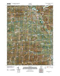 Fredericktown Ohio Historical topographic map, 1:24000 scale, 7.5 X 7.5 Minute, Year 2010
