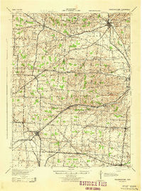 Fredericktown Ohio Historical topographic map, 1:62500 scale, 15 X 15 Minute, Year 1943