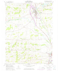 Fredericktown Ohio Historical topographic map, 1:24000 scale, 7.5 X 7.5 Minute, Year 1961