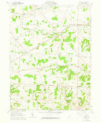 Fredonia Ohio Historical topographic map, 1:24000 scale, 7.5 X 7.5 Minute, Year 1961