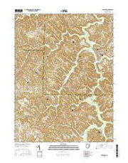 Freeport Ohio Current topographic map, 1:24000 scale, 7.5 X 7.5 Minute, Year 2016 from Ohio Maps Store