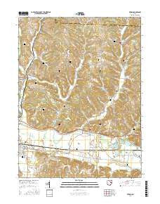 Fresno Ohio Current topographic map, 1:24000 scale, 7.5 X 7.5 Minute, Year 2016