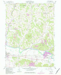 Fresno Ohio Historical topographic map, 1:24000 scale, 7.5 X 7.5 Minute, Year 1961