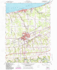 Geneva Ohio Historical topographic map, 1:24000 scale, 7.5 X 7.5 Minute, Year 1960