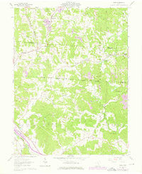 Gore Ohio Historical topographic map, 1:24000 scale, 7.5 X 7.5 Minute, Year 1961