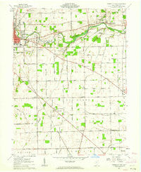 Greenville East Ohio Historical topographic map, 1:24000 scale, 7.5 X 7.5 Minute, Year 1961