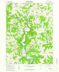 Greer Ohio Historical topographic map, 1:24000 scale, 7.5 X 7.5 Minute, Year 1961