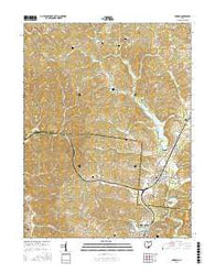 Hamden Ohio Current topographic map, 1:24000 scale, 7.5 X 7.5 Minute, Year 2016