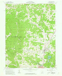 Hamden Ohio Historical topographic map, 1:24000 scale, 7.5 X 7.5 Minute, Year 1961