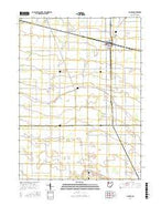Hamler Ohio Current topographic map, 1:24000 scale, 7.5 X 7.5 Minute, Year 2016 from Ohio Map Store