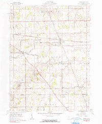 Harrod Ohio Historical topographic map, 1:24000 scale, 7.5 X 7.5 Minute, Year 1961