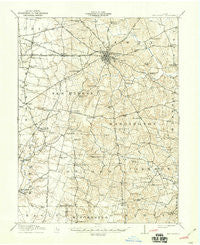 Hillsboro Ohio Historical topographic map, 1:62500 scale, 15 X 15 Minute, Year 1917
