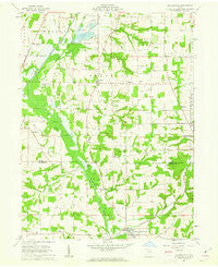 Holmesville Ohio Historical topographic map, 1:24000 scale, 7.5 X 7.5 Minute, Year 1961