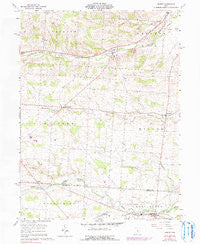 Homer Ohio Historical topographic map, 1:24000 scale, 7.5 X 7.5 Minute, Year 1961