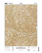 Hunter Ohio Current topographic map, 1:24000 scale, 7.5 X 7.5 Minute, Year 2016 from Ohio Map Store