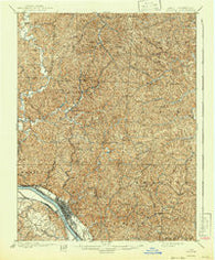 Ironton Ohio Historical topographic map, 1:62500 scale, 15 X 15 Minute, Year 1900