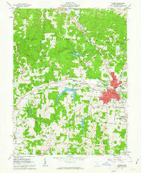 Jackson Ohio Historical topographic map, 1:24000 scale, 7.5 X 7.5 Minute, Year 1961