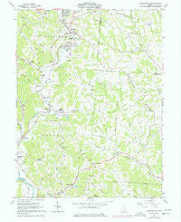 Jacksonville Ohio Historical topographic map, 1:24000 scale, 7.5 X 7.5 Minute, Year 1961