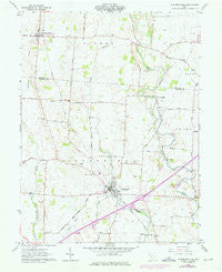 Jeffersonville Ohio Historical topographic map, 1:24000 scale, 7.5 X 7.5 Minute, Year 1961