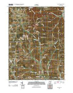Jelloway Ohio Historical topographic map, 1:24000 scale, 7.5 X 7.5 Minute, Year 2010
