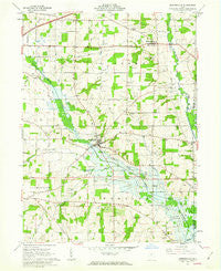 Jeromesville Ohio Historical topographic map, 1:24000 scale, 7.5 X 7.5 Minute, Year 1961
