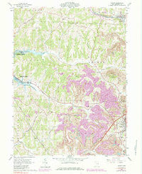 Jewett Ohio Historical topographic map, 1:24000 scale, 7.5 X 7.5 Minute, Year 1961