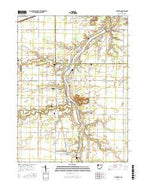 Junction Ohio Current topographic map, 1:24000 scale, 7.5 X 7.5 Minute, Year 2016 from Ohio Map Store