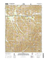 Junction City Ohio Current topographic map, 1:24000 scale, 7.5 X 7.5 Minute, Year 2016