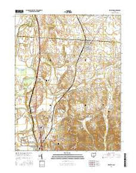 Kingston Ohio Current topographic map, 1:24000 scale, 7.5 X 7.5 Minute, Year 2016