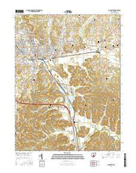 Lancaster Ohio Current topographic map, 1:24000 scale, 7.5 X 7.5 Minute, Year 2016