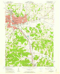 Lancaster Ohio Historical topographic map, 1:24000 scale, 7.5 X 7.5 Minute, Year 1961