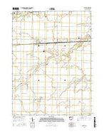 Latty Ohio Current topographic map, 1:24000 scale, 7.5 X 7.5 Minute, Year 2016 from Ohio Map Store