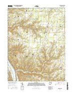 Laurel Ohio Current topographic map, 1:24000 scale, 7.5 X 7.5 Minute, Year 2016 from Ohio Map Store