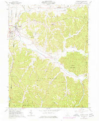 Laurelville Ohio Historical topographic map, 1:24000 scale, 7.5 X 7.5 Minute, Year 1961