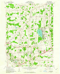 Leroy Ohio Historical topographic map, 1:24000 scale, 7.5 X 7.5 Minute, Year 1961