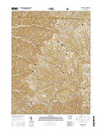 Lewisville Ohio Current topographic map, 1:24000 scale, 7.5 X 7.5 Minute, Year 2016 from Ohio Map Store