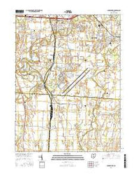 Lockbourne Ohio Current topographic map, 1:24000 scale, 7.5 X 7.5 Minute, Year 2016