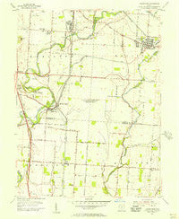 Lockbourne Ohio Historical topographic map, 1:24000 scale, 7.5 X 7.5 Minute, Year 1955