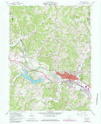 Logan Ohio Historical topographic map, 1:24000 scale, 7.5 X 7.5 Minute, Year 1961