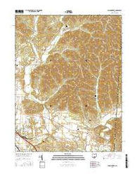 Londonderry Ohio Current topographic map, 1:24000 scale, 7.5 X 7.5 Minute, Year 2016