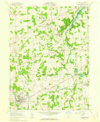 Loudonville Ohio Historical topographic map, 1:24000 scale, 7.5 X 7.5 Minute, Year 1961