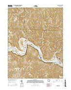 Lowell Ohio Current topographic map, 1:24000 scale, 7.5 X 7.5 Minute, Year 2016 from Ohio Map Store