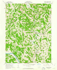 Lower Salem Ohio Historical topographic map, 1:24000 scale, 7.5 X 7.5 Minute, Year 1961