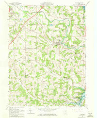 Lucas Ohio Historical topographic map, 1:24000 scale, 7.5 X 7.5 Minute, Year 1961