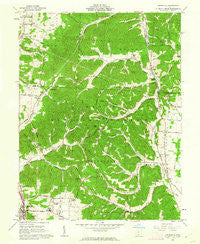 Lucasville Ohio Historical topographic map, 1:24000 scale, 7.5 X 7.5 Minute, Year 1961