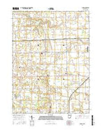 Lyons Ohio Current topographic map, 1:24000 scale, 7.5 X 7.5 Minute, Year 2016 from Ohio Map Store