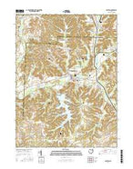 Malvern Ohio Current topographic map, 1:24000 scale, 7.5 X 7.5 Minute, Year 2016 from Ohio Map Store