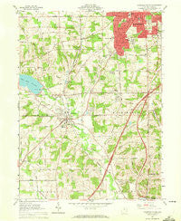 Mansfield South Ohio Historical topographic map, 1:24000 scale, 7.5 X 7.5 Minute, Year 1961
